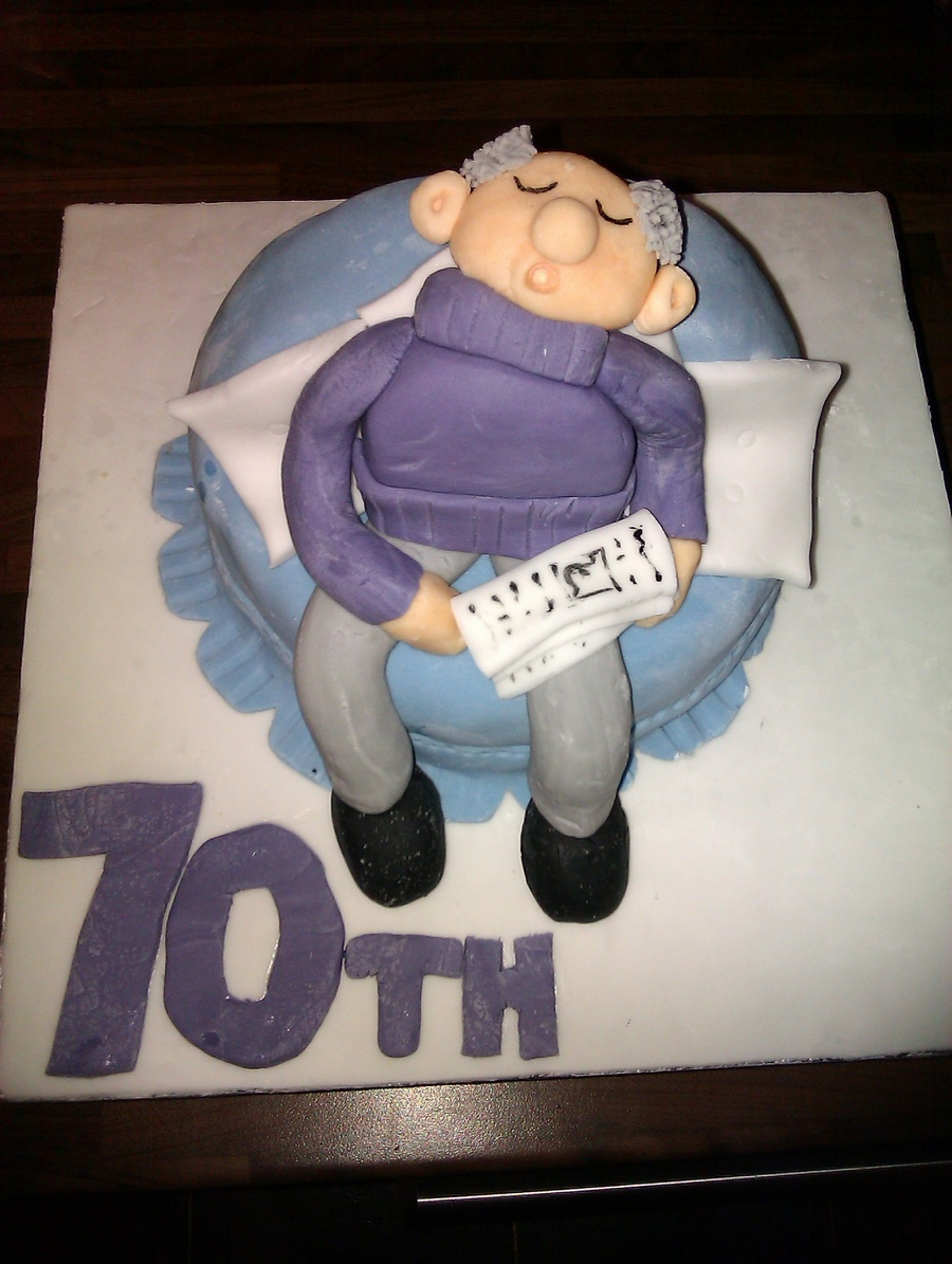 Dads 70Th Birthday Cake on Cake Central