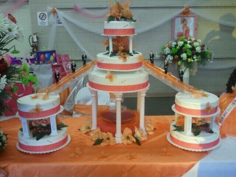 Butterfly Theme Sweet 15 Cake  on Cake Central