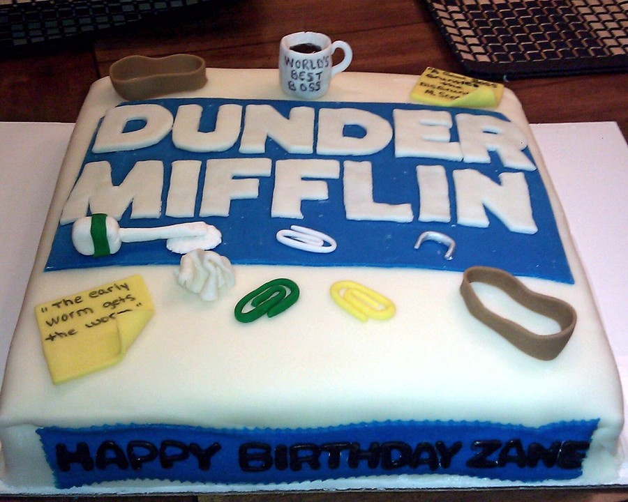 the Office Themed Birthday Cake CakeCentralcom