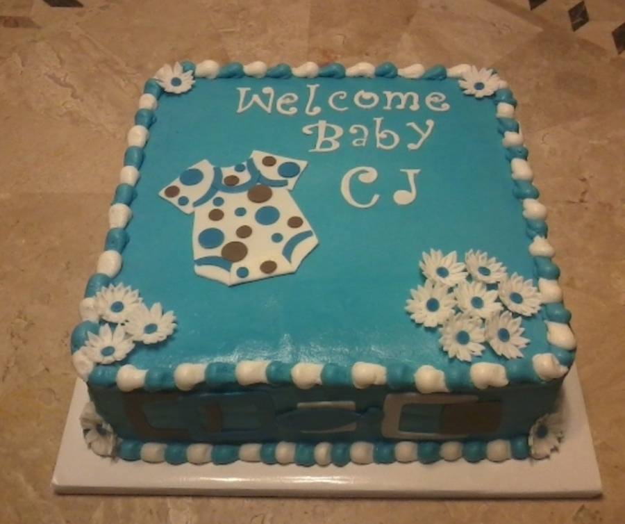 Baby Boy Baby Shower Cake Cakecentral Com