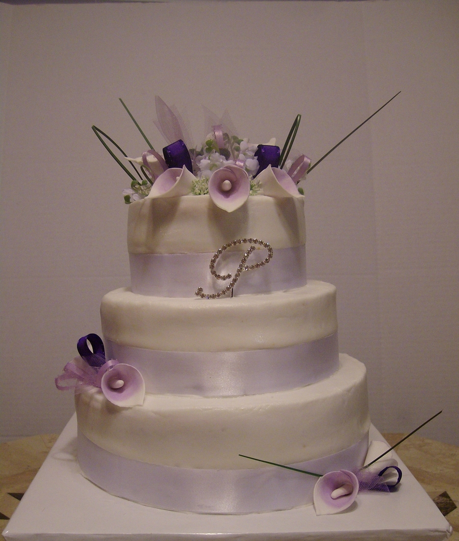 purple calla lily wedding cakes purple calla wedding cake cakecentral 18894