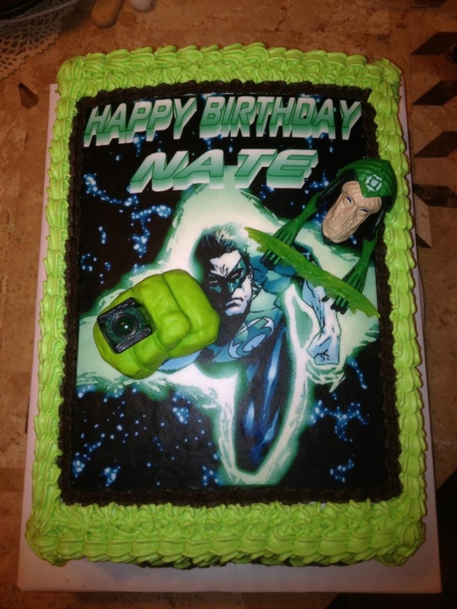 Stupendous Green Lantern Cakecentral Com Funny Birthday Cards Online Amentibdeldamsfinfo