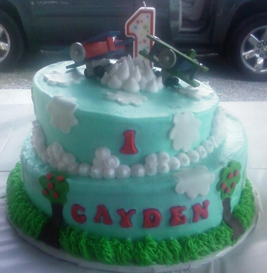 Airplane birthday cake for Airplane cake decoration