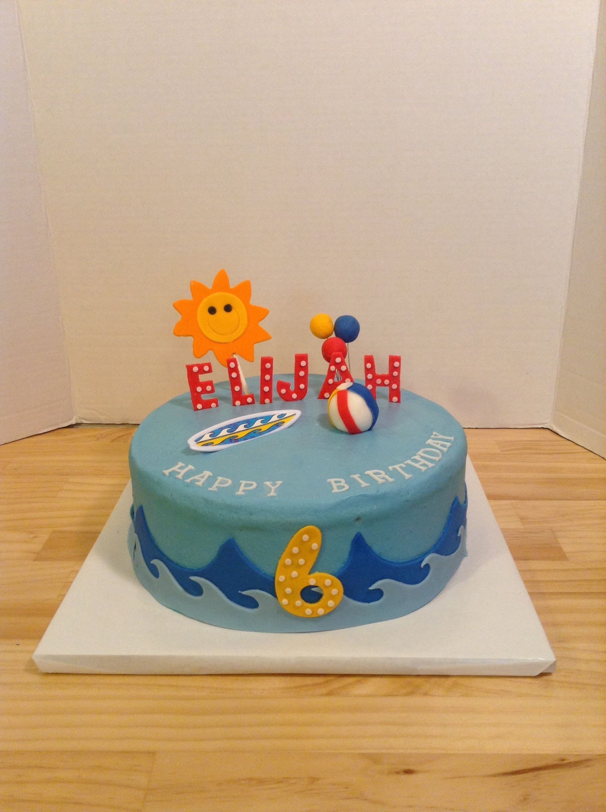 Marvelous Beach Themed Birthday Cake Cakecentral Com Funny Birthday Cards Online Unhofree Goldxyz