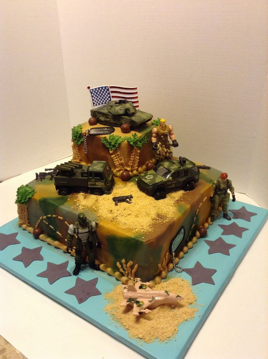 Army Birthday Cake - CakeCentral.com