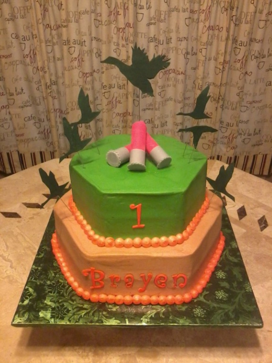 Duck Hunting Theme First Birthday Cake CakeCentralcom