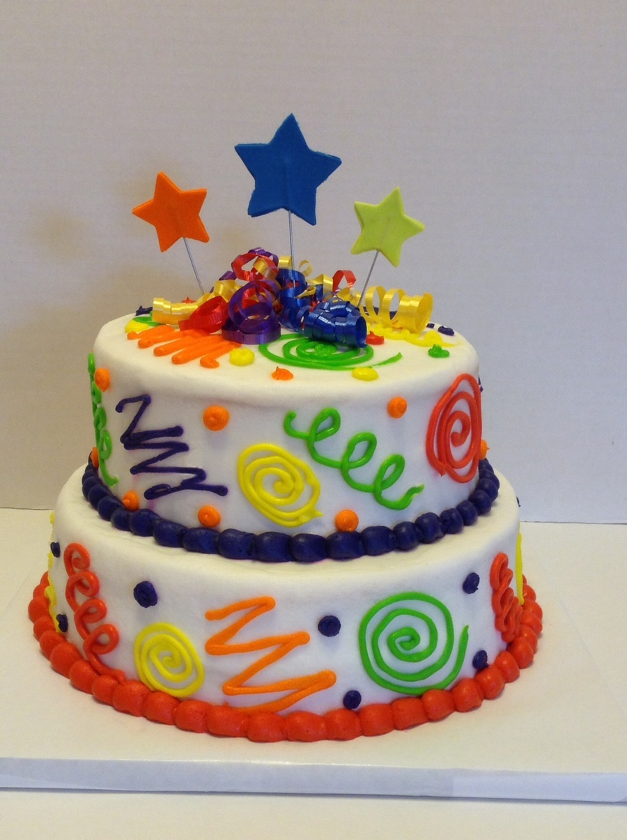 Cool Colorful Fun Birthday Cake Cakecentral Com Funny Birthday Cards Online Alyptdamsfinfo