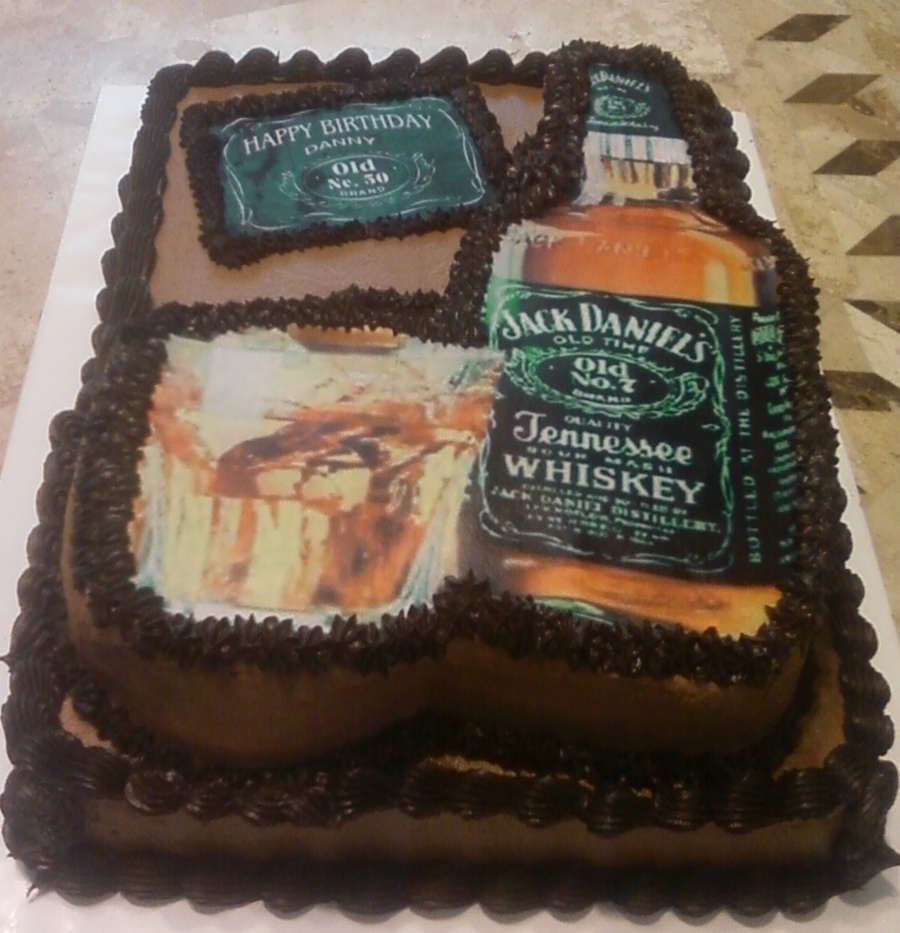 Jack Daniels On The Rocks Birthday Cake CakeCentralcom