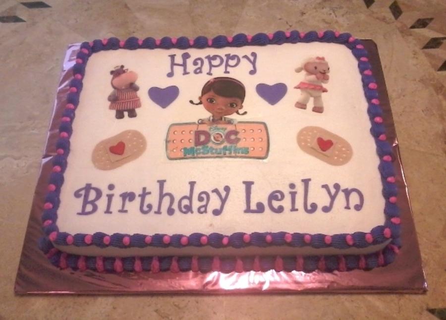Amazing Doc Mcstuffins Birthday Cake Cakecentral Com Funny Birthday Cards Online Inifodamsfinfo