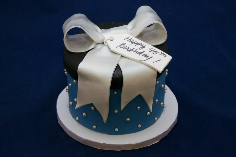 Round Gift Box Cake on Cake Central