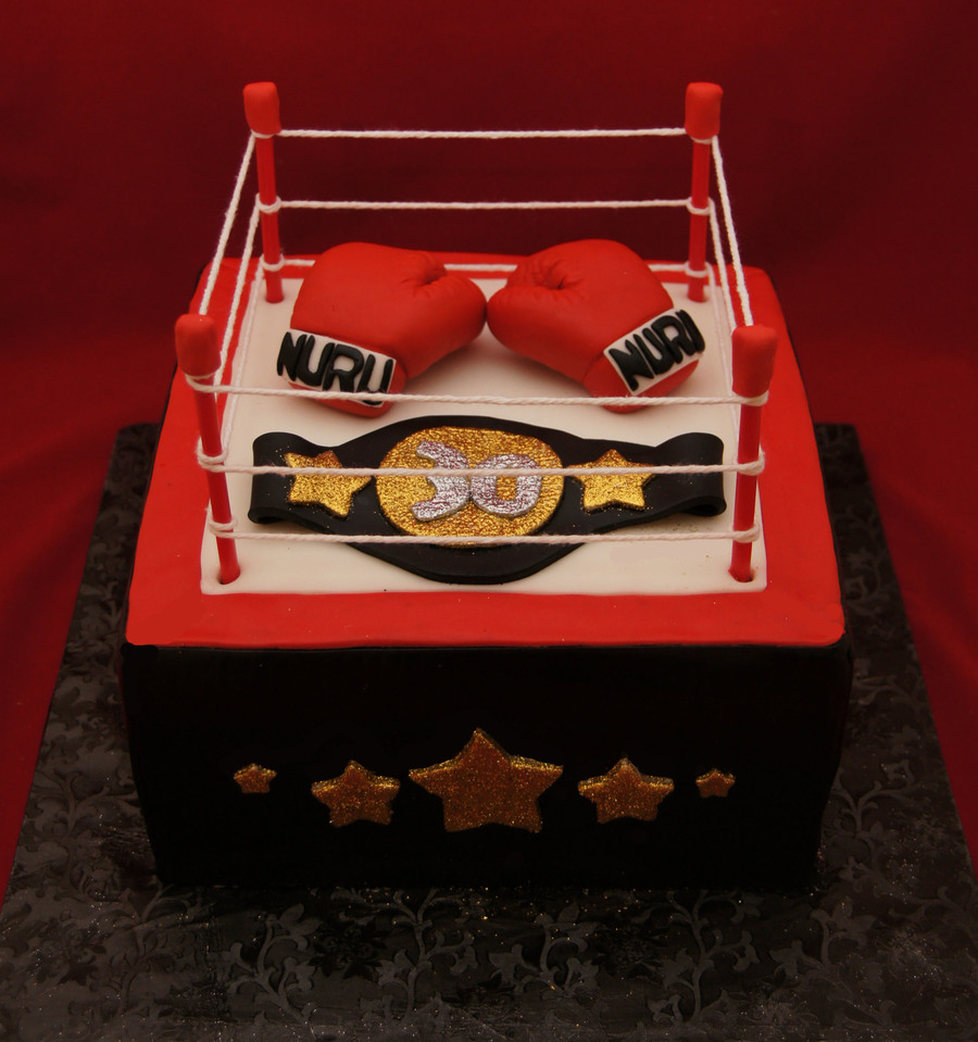 Boxing Ring And Glove Cake CakeCentralcom