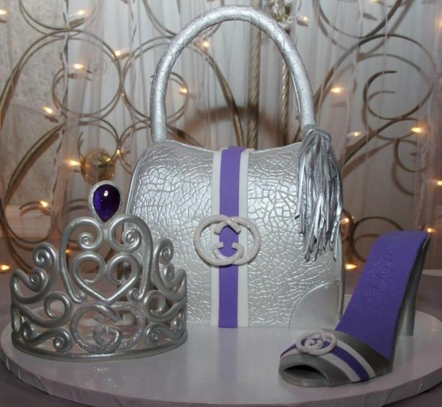 Python Gucci Bag Cake Tiara And High Heel Shoe