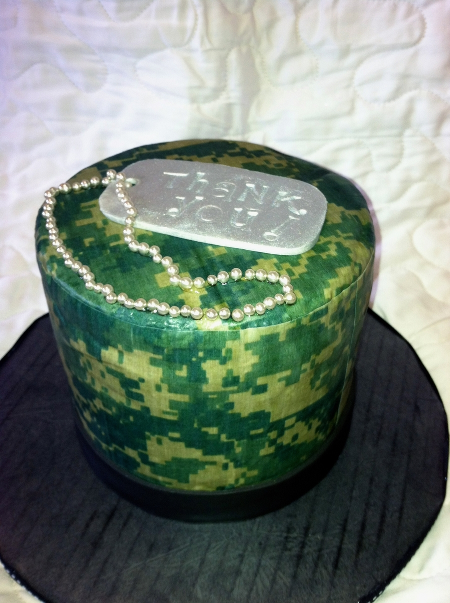 Army Thank You Cake! on Cake Central
