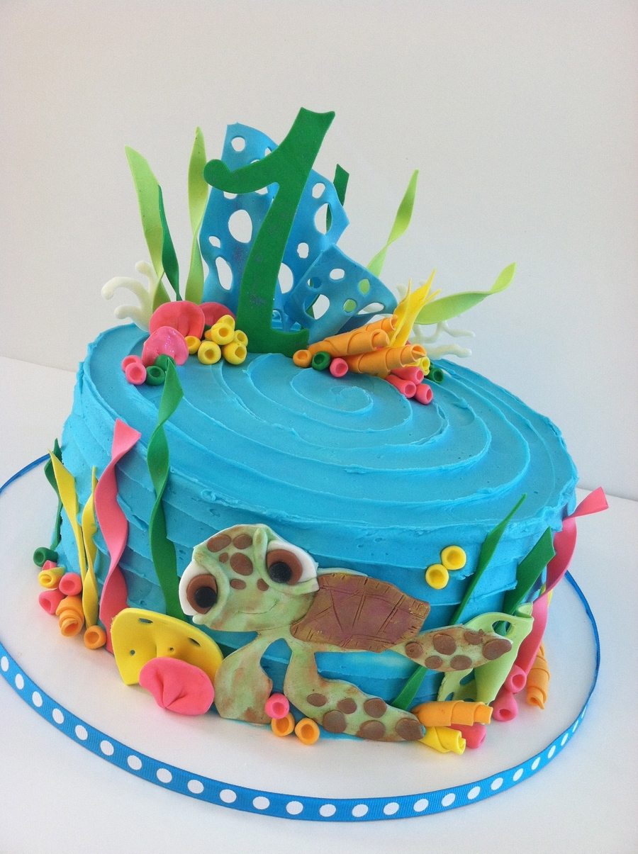 Sea Turtle 1St Birthday Cake! on Cake Central