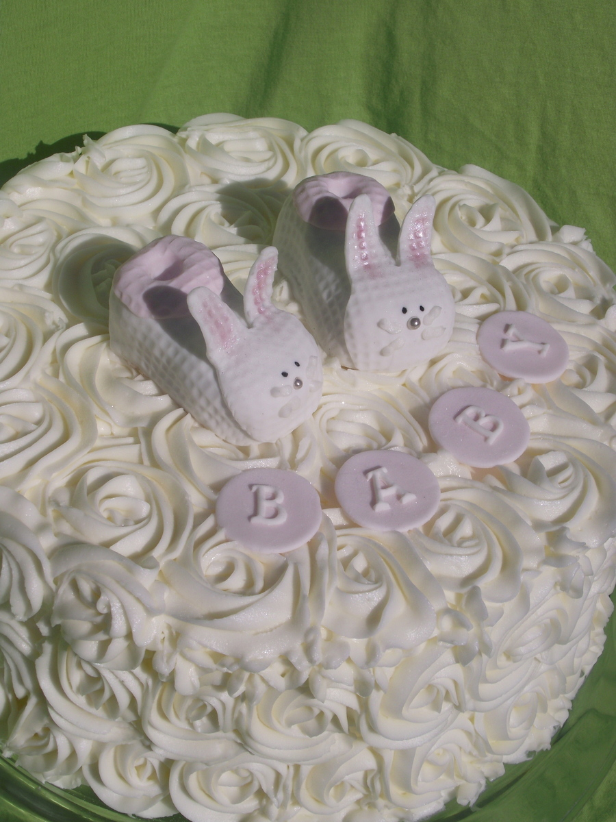 Baby Bootie Baby Shower Cake! on Cake Central