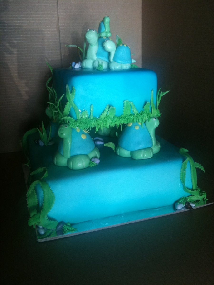 Turtle Baby Shower on Cake Central