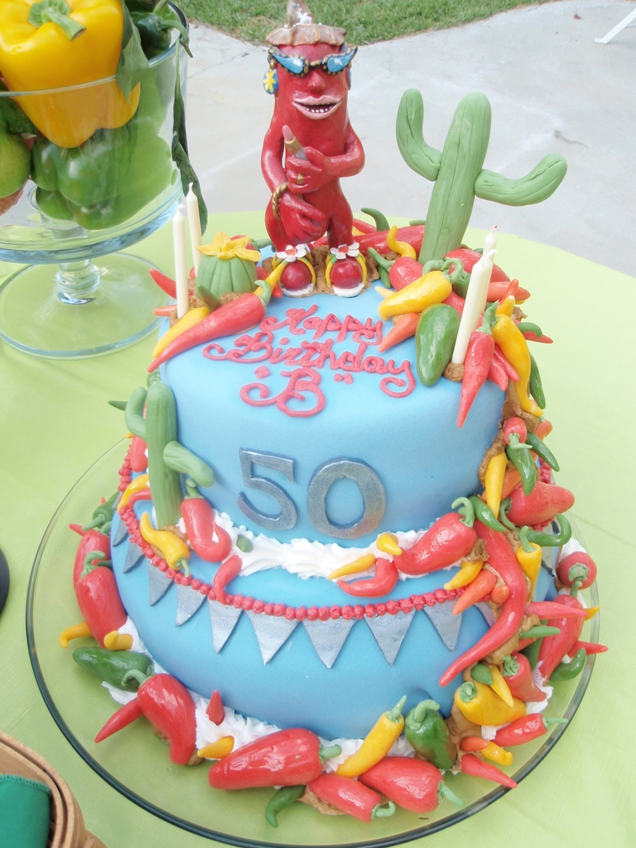 Chili Pepper 50Th Birthday Cake on Cake Central