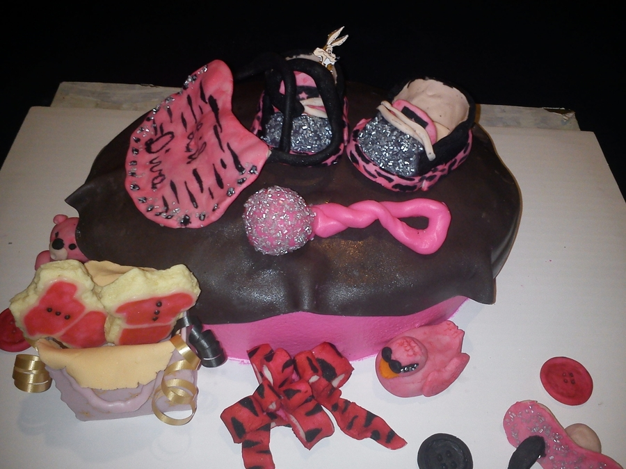 Hot Pink Zebra Baby Shower-Girl on Cake Central