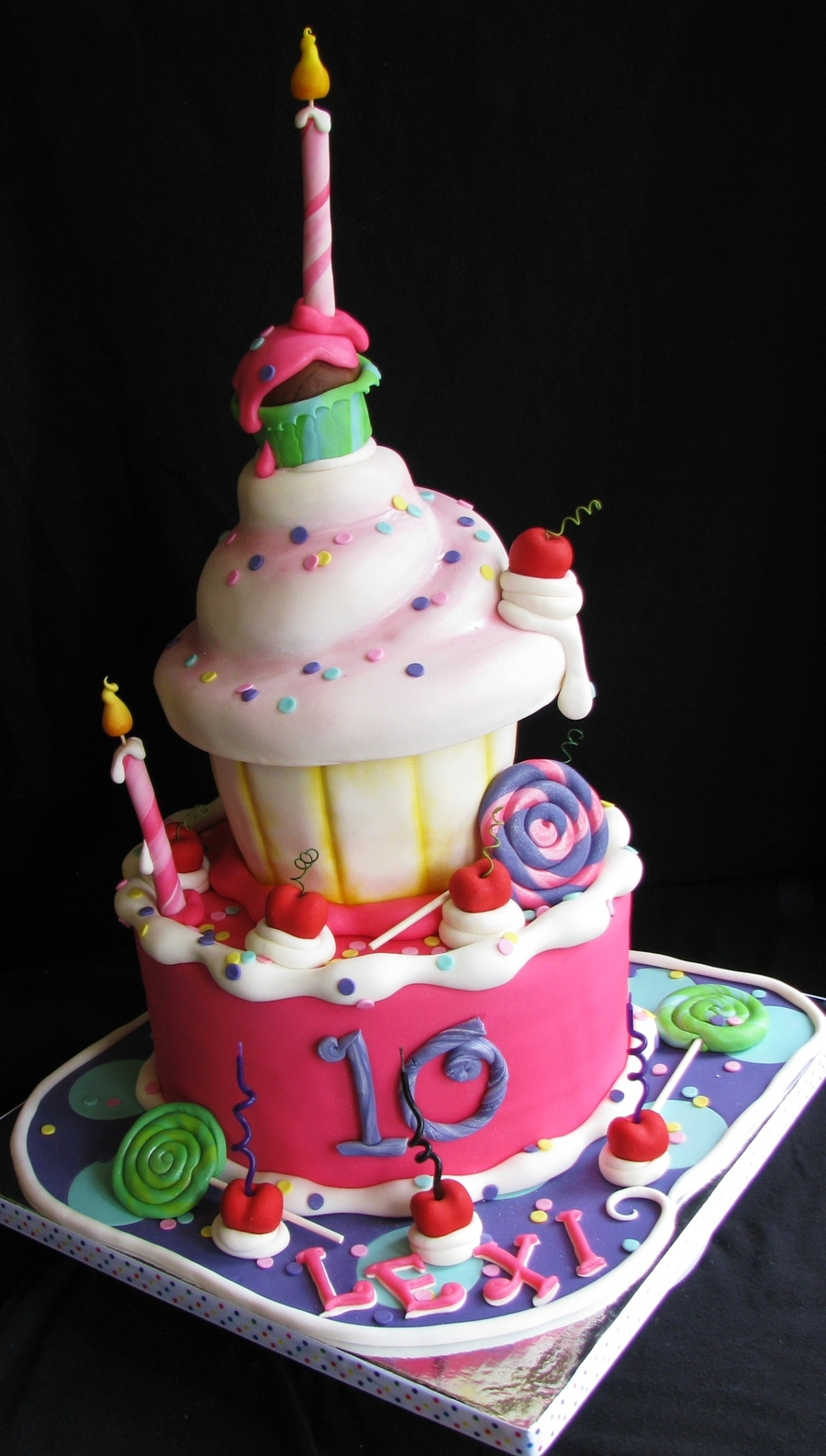 Whimsical 10th Birthday Cake Cakecentral