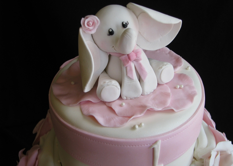 Elephant 1st Birthday Cakecentral Com