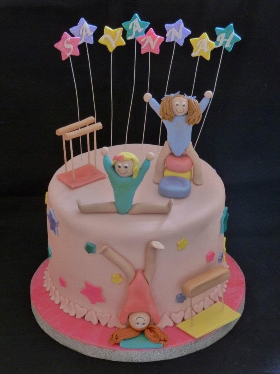 Cake Decorating Ideas Gymnastics : Gymnastics Cake - CakeCentral.com