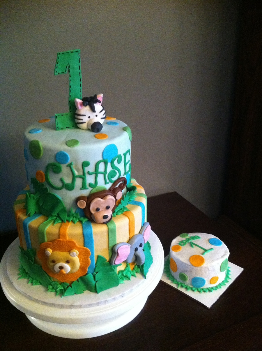 Swell Jungle Themed Kids Cake Cakecentral Com Funny Birthday Cards Online Eattedamsfinfo