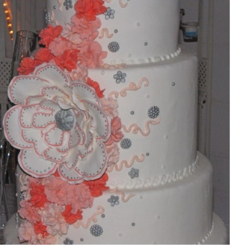 Cakecentral Com: Coral Wedding Cake