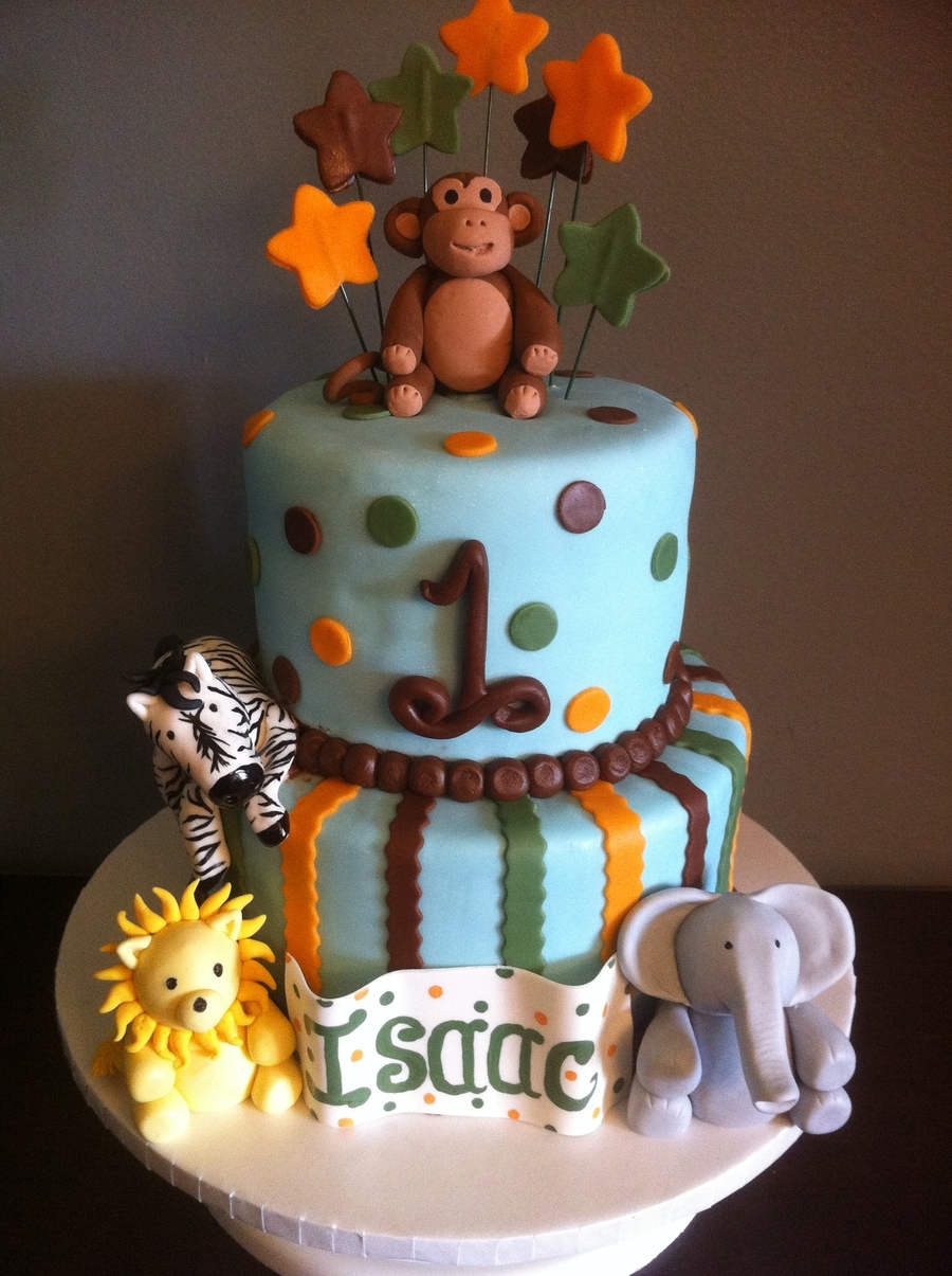 Safari Themed St Birthday Cake