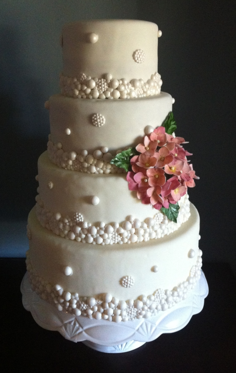 where can i buy pearl wedding cake vodka pearl wedding cake with gumpaste hydrangea cakecentral 27134