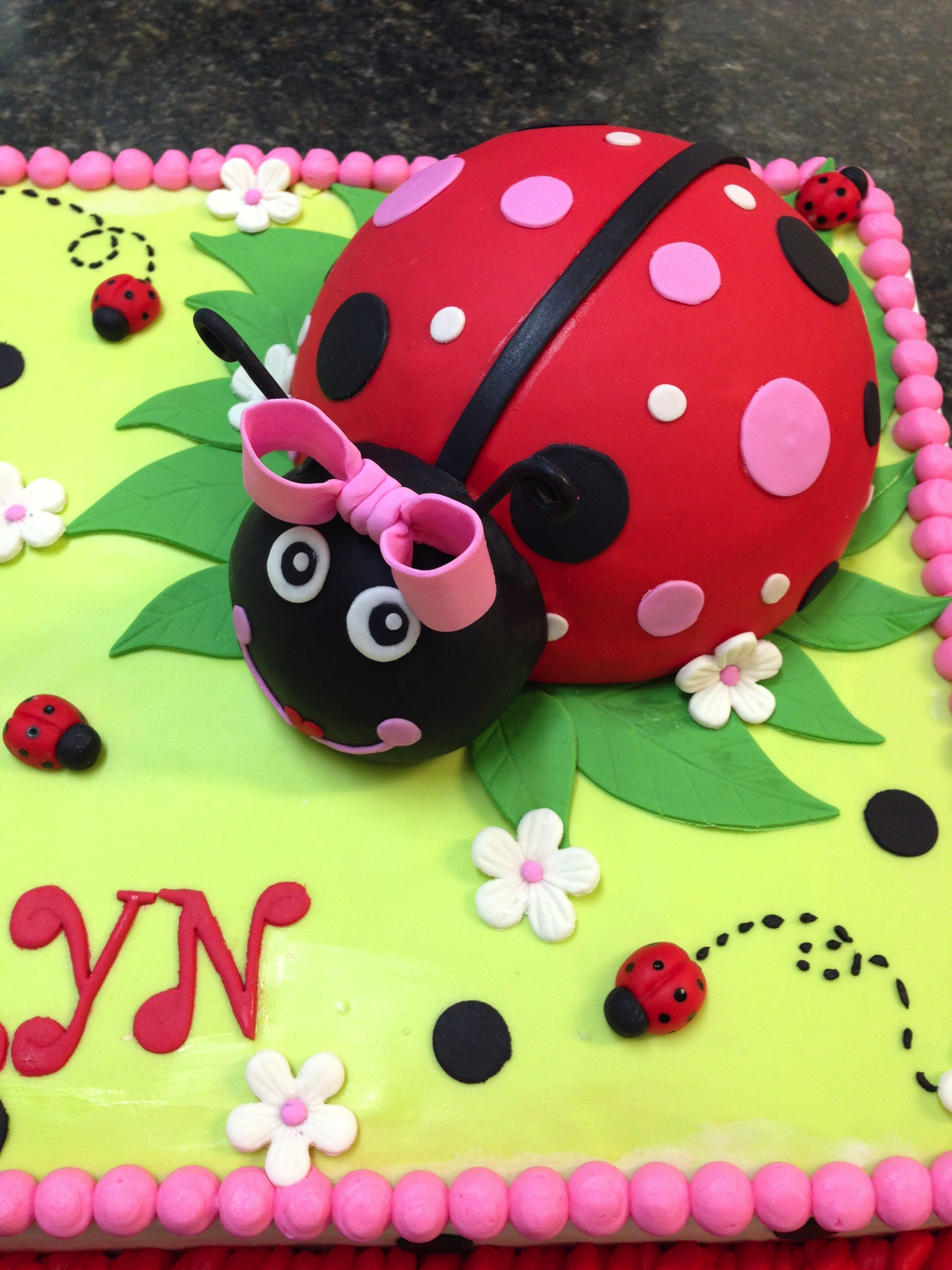 Lady Bug First Birthday Cake Cakecentral