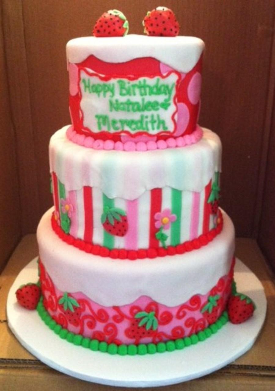 Strawberry Shortcake Edible Cake Image