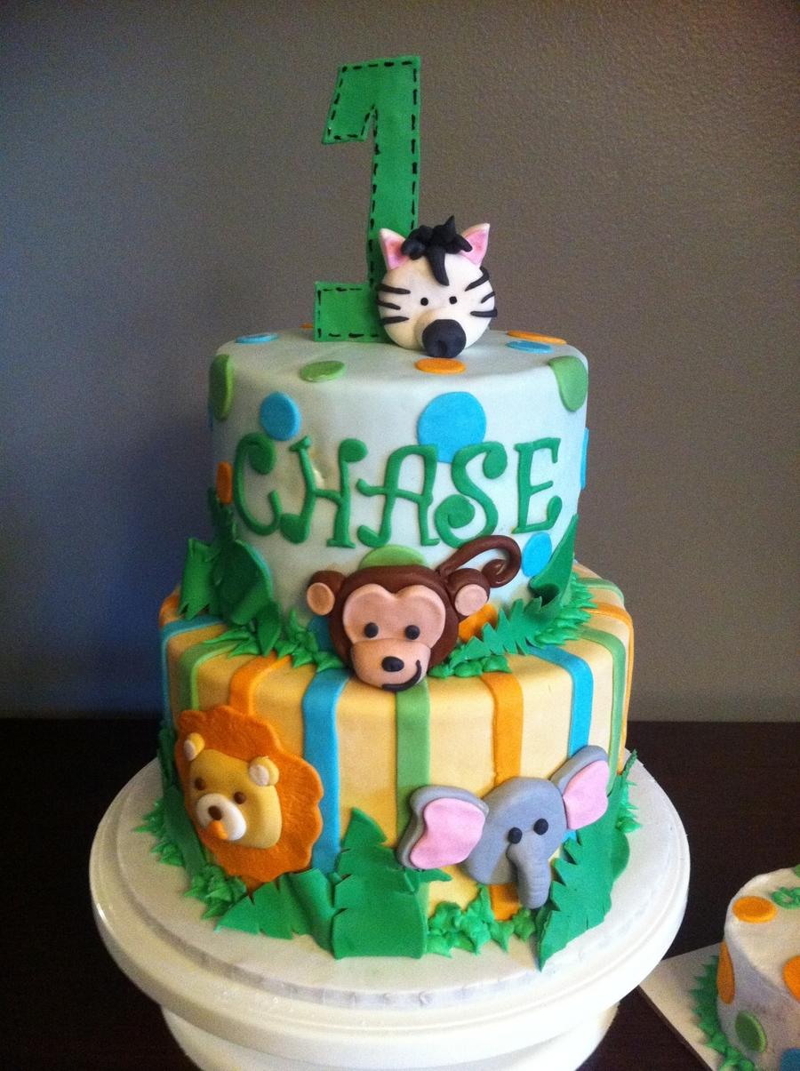 Jungle Animal Birthday Cake Ideas