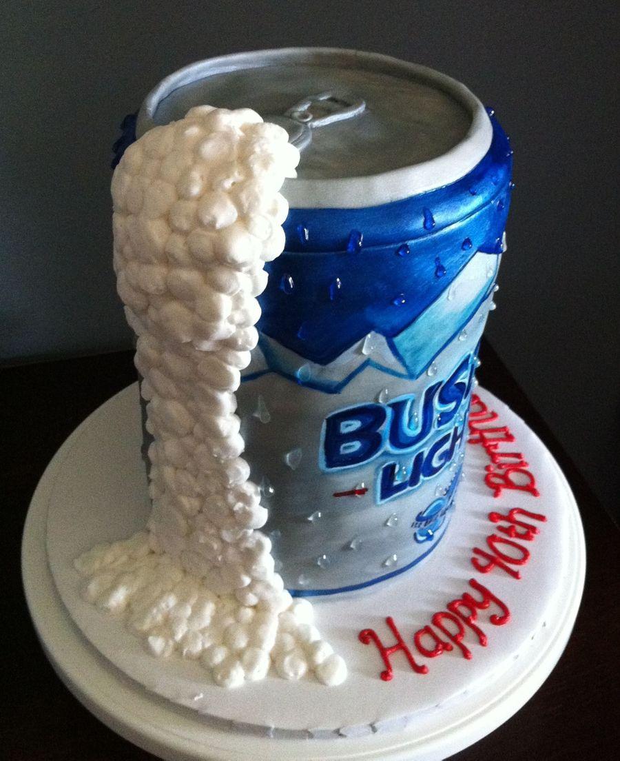 Busch Light Beer Can Cake