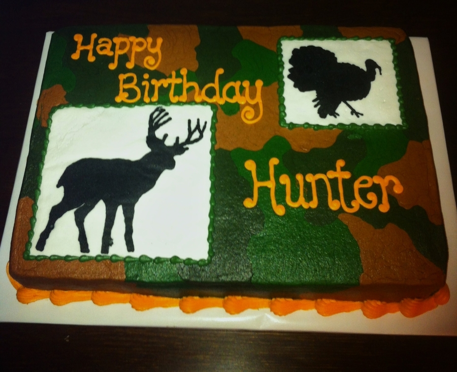 Camo Hunting Cake on Cake Central