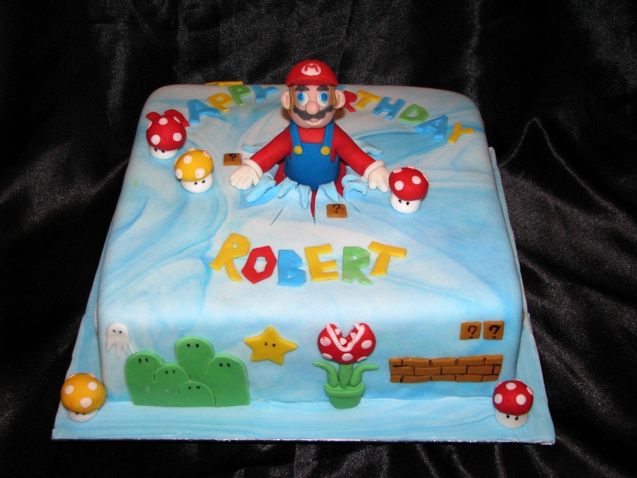 Birthday Cake Images For Maa : Super Mario Birthday Cake - CakeCentral.com