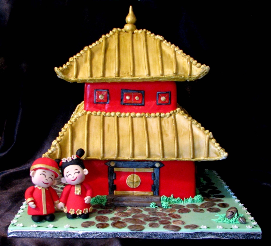 Chinese Pagoda Wedding Cake - CakeCentral.com