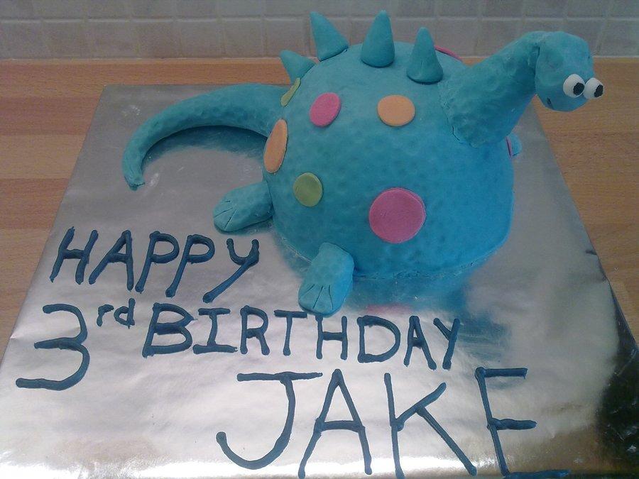 Blue Dinosaur Cake CakeCentralcom
