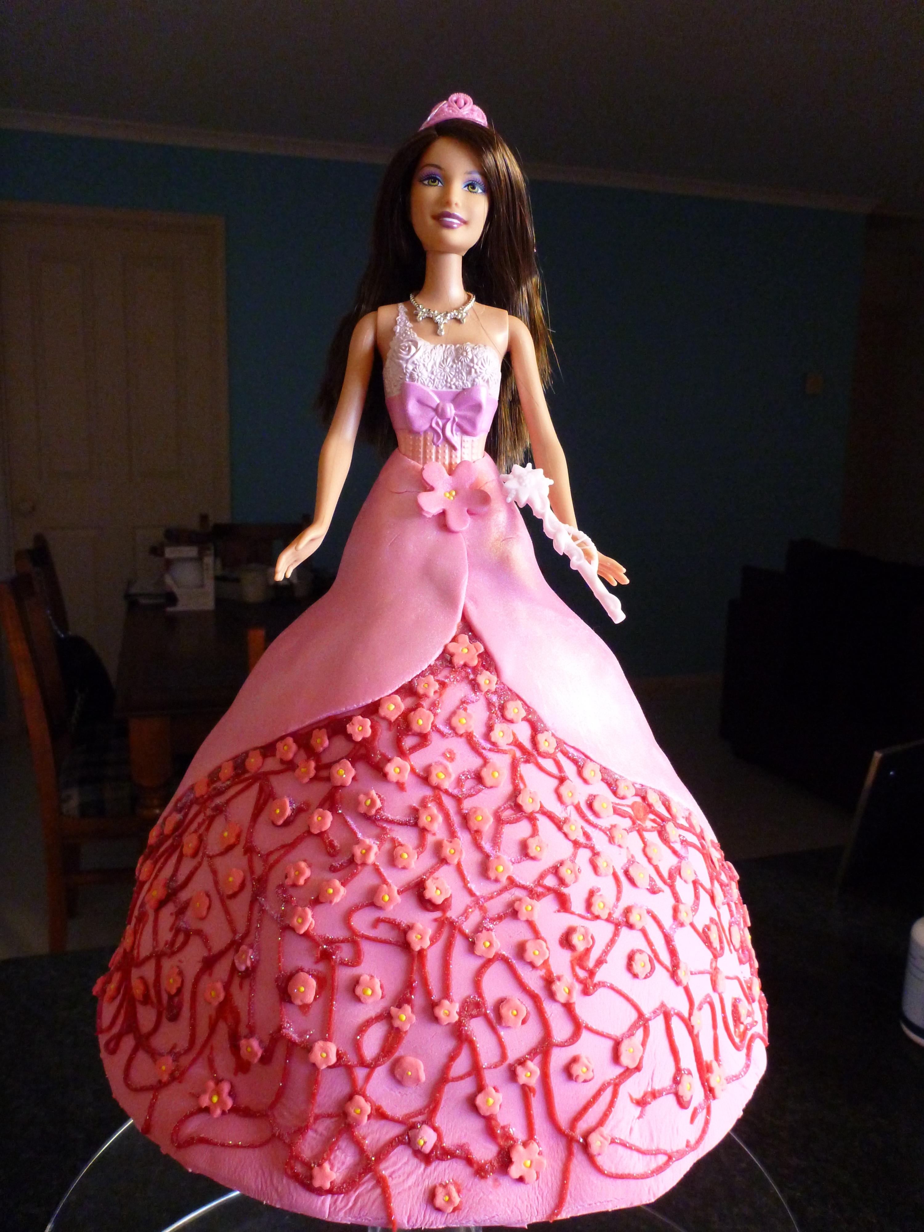 Barbie Princess Doll Cake Girls Birthday Cake CakeCentralcom - Birthday cake doll princess