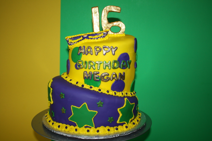 Sweet 16 Mardi Gras on Cake Central