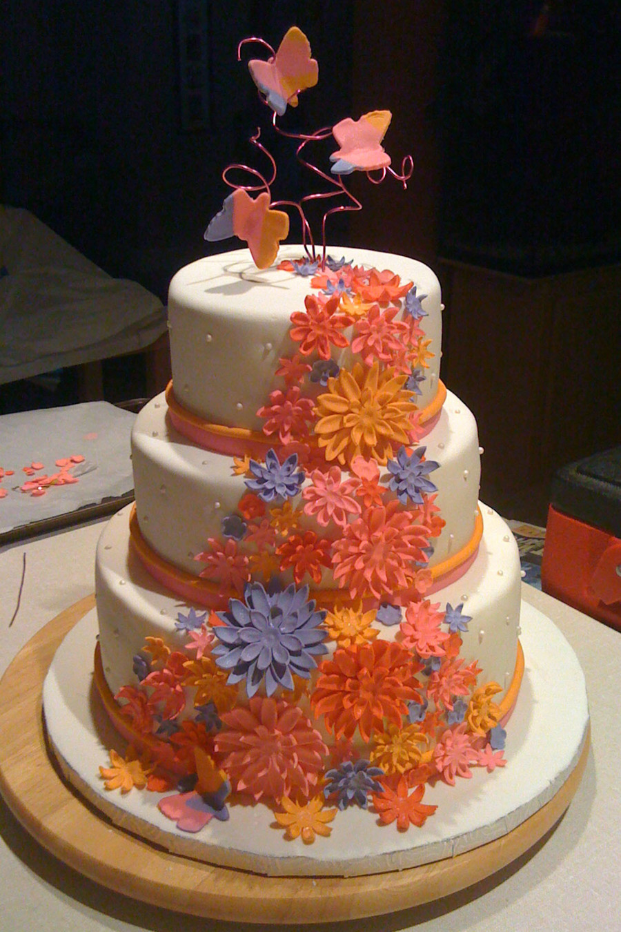 Flowers Cake  on Cake Central