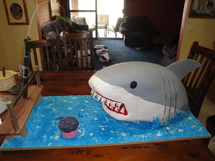 Shark Eating A Rice Cake