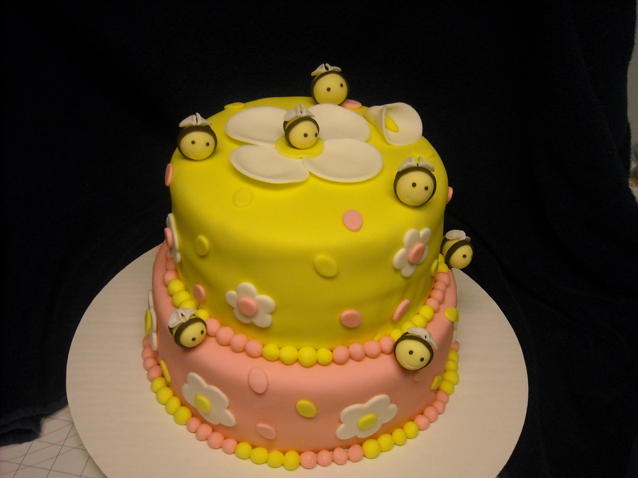 Easter Bee & Flower Cake on Cake Central