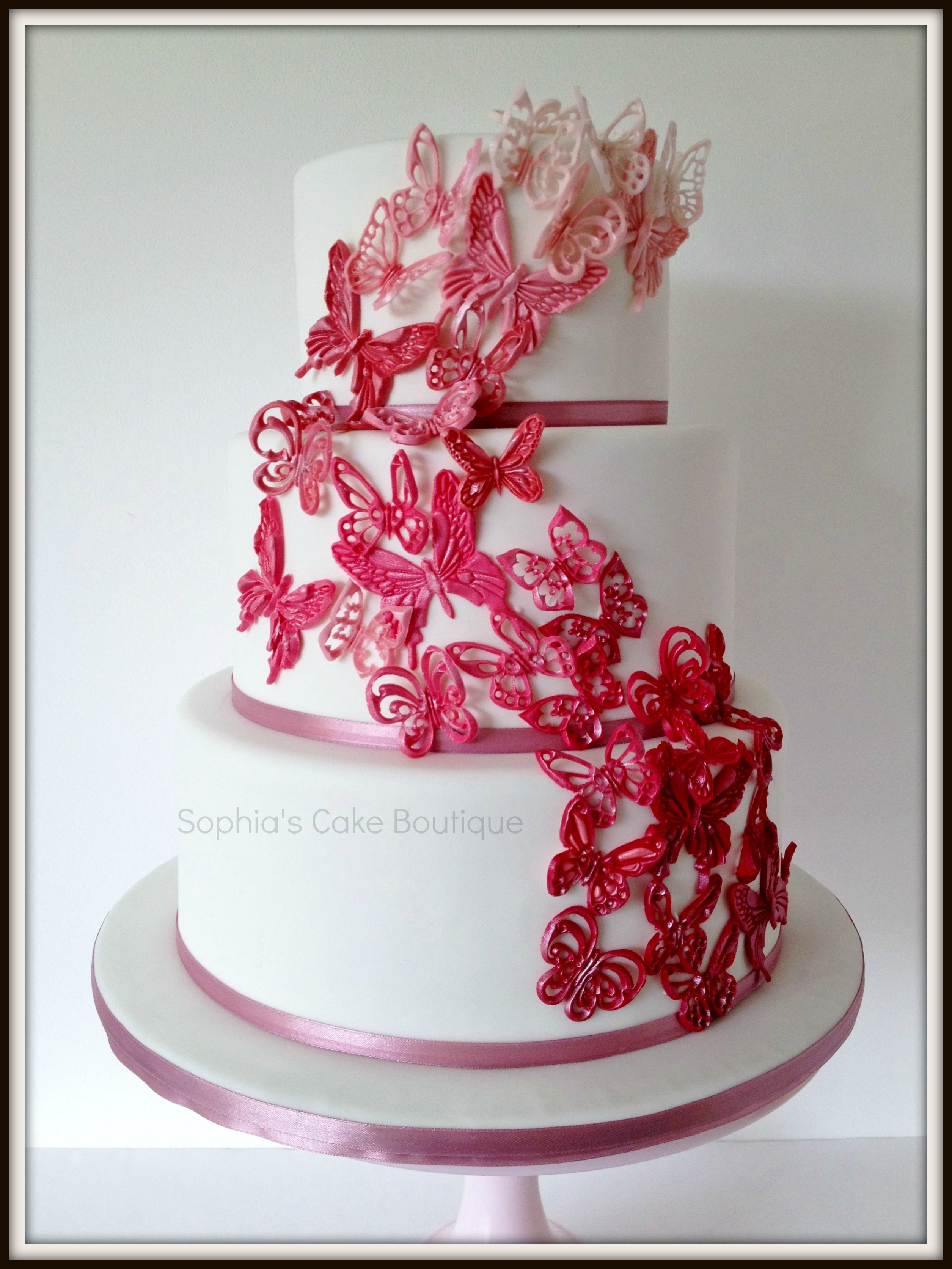 Three Tier Wedding Cake In Chocolate Mudcake Vanilla And