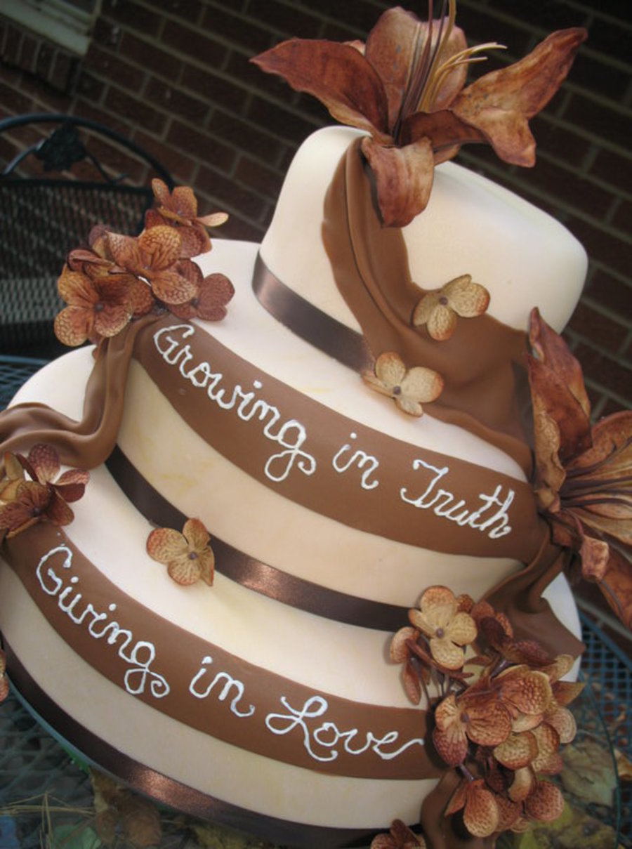 Brown Beige Elegant on Cake Central