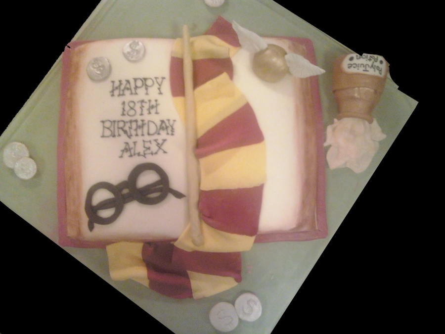 Harry Potter Book Cake on Cake Central