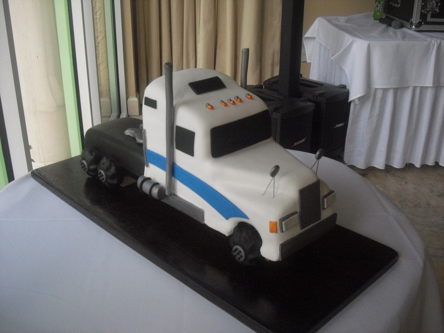 Semi Truck Wedding Cake