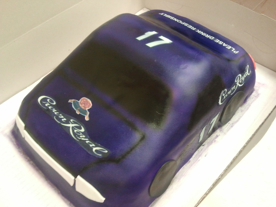 Crown Royal Race Car on Cake Central