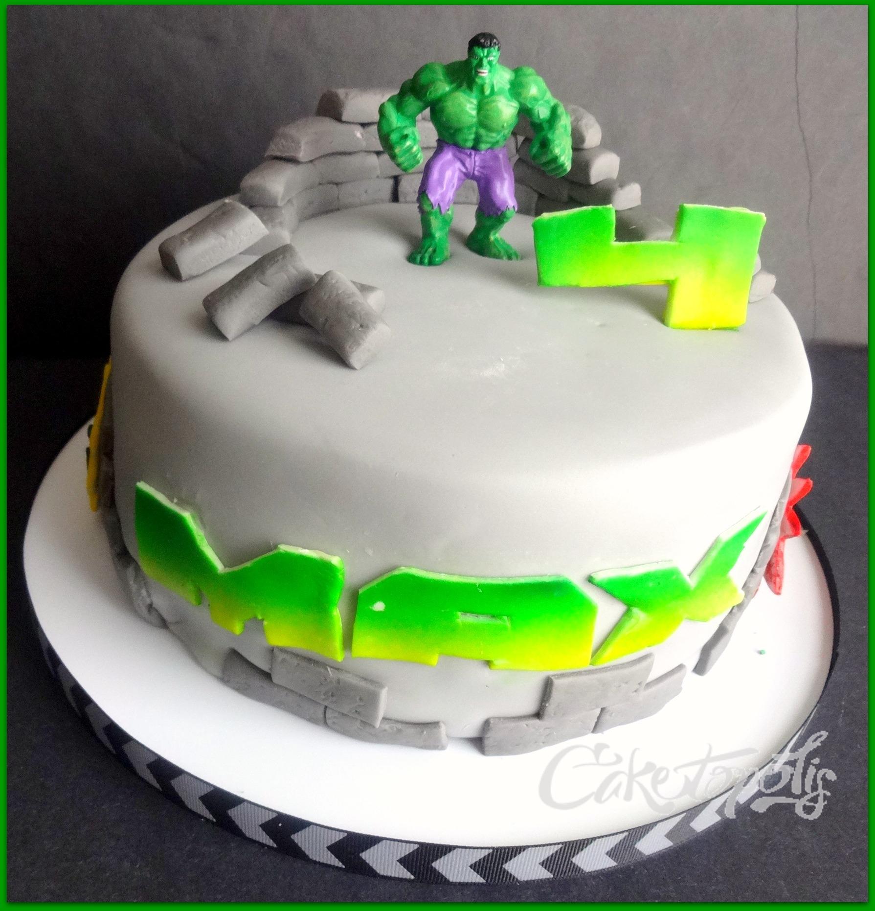 Terrific Hulk Birthday Cake Cakecentral Com Funny Birthday Cards Online Elaedamsfinfo