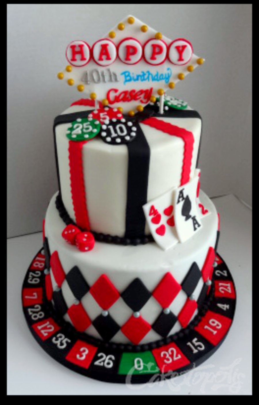 Happy Birthday Poker Cake