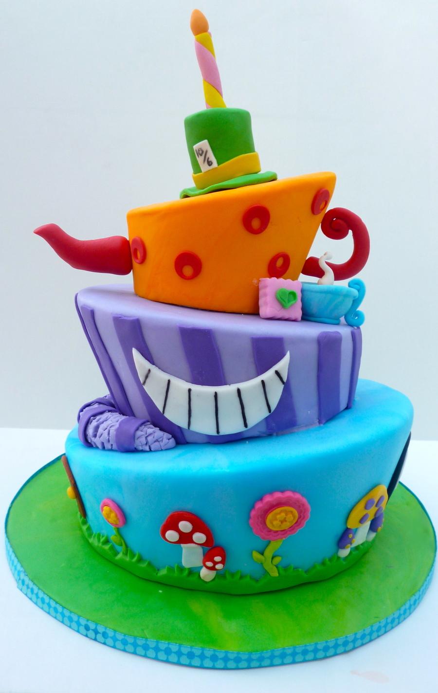 Alice In Wonderland Baby Shower Cake Ideas